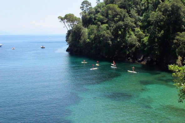 Il mare verde smeraldo di Paraggi